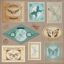 Vector Set: Vintage Post Stamp...