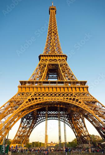 Photo Stands Eiffel Tower Eiffelturm