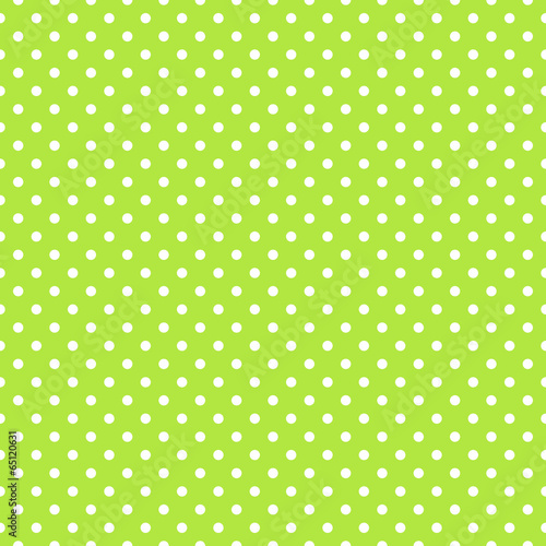 Fotobehang - Seamless green polka dot background