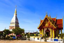 Chedi Phra That Renu With Architecture