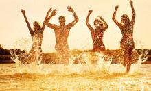 Happy People  On Beach