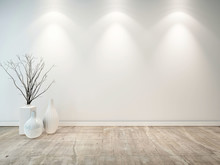 Empty Neutral Grey Room With O...