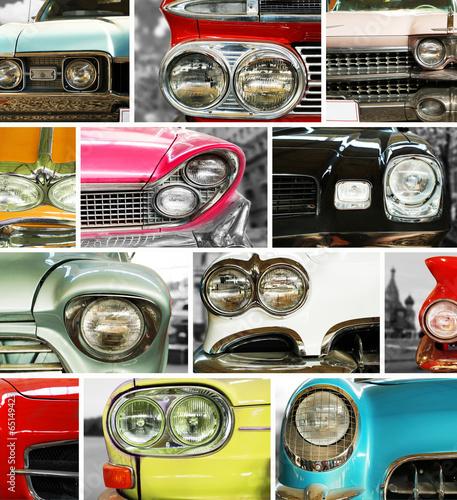 klasyczne-samochody-kolaz-retro-zderzak-i-reflektory