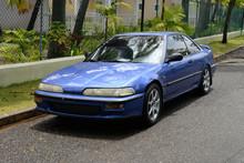 Blue Sports Car