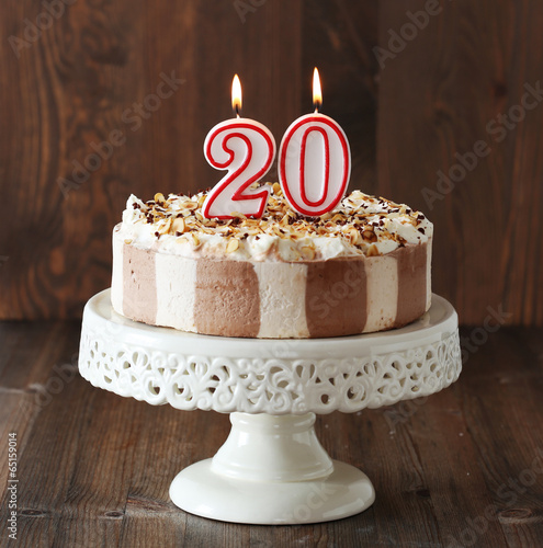 Cool 20Th Birthday Cake Buy This Stock Photo And Explore Similar Birthday Cards Printable Benkemecafe Filternl