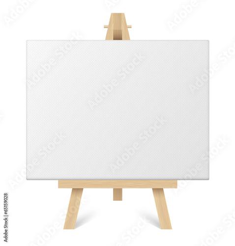 Photo Toile blanche et chevalet vectoriels 1
