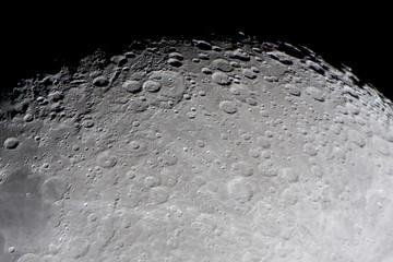 Fototapeta kratery na księżycu