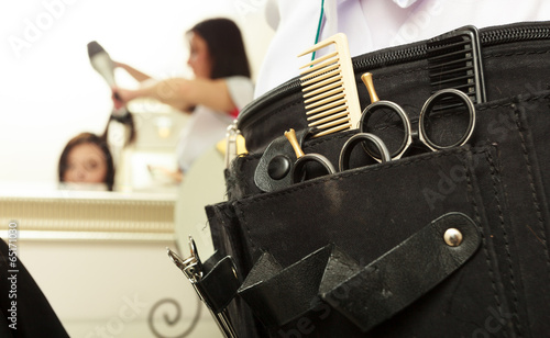 Fotografie, Obraz  equipment tools accessories hairdresser in hair salon