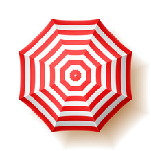 Beach Umbrella, Top View.