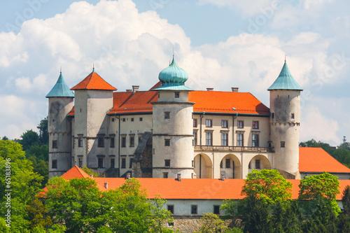 View of Nowy Wisnicz castle, Poland - fototapety na wymiar
