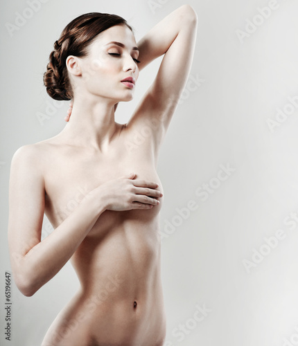 beautiful female figure  perfect skin  - Buy this stock photo and