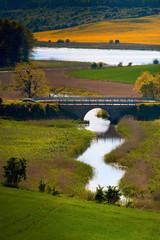 Obraz na Szkle Wiejski Wiosenny Krajobraz Warmii