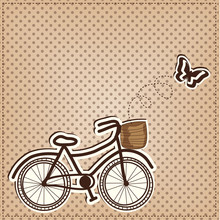 Retro Or Vintage Bicycle With ...