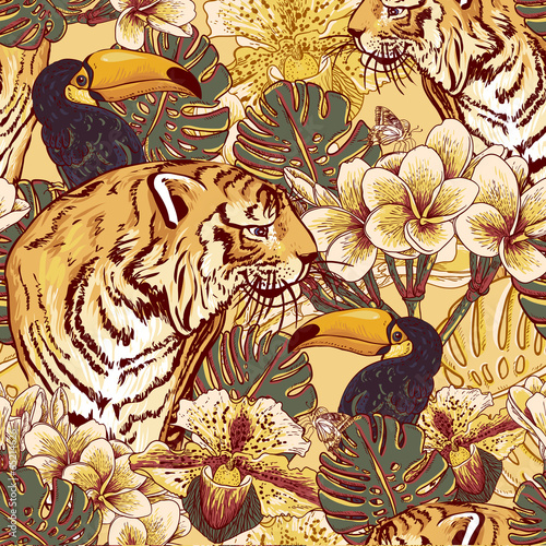 tropikalne-tlo-tygrysy