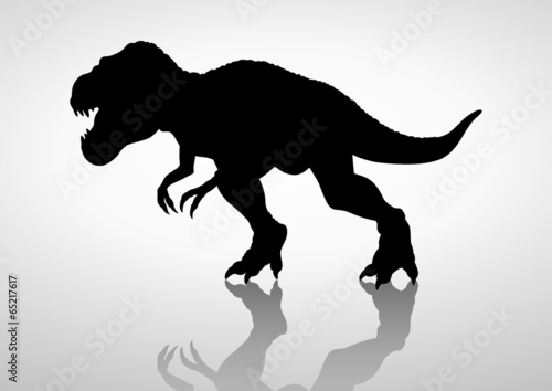 Photo  Silhouette illustration of a tyrannosaurus rex
