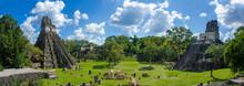 Panorama Tikal Ruins In Guatem...