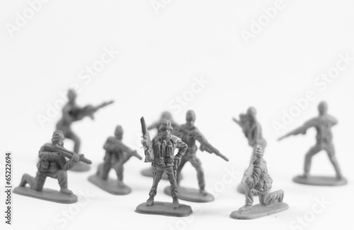 Poster Militaire Toy soldier on white