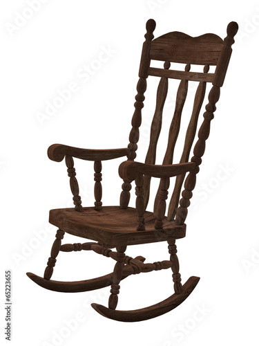 Admirable Old Wooden Rocking Chair On White Background Buy This Ncnpc Chair Design For Home Ncnpcorg