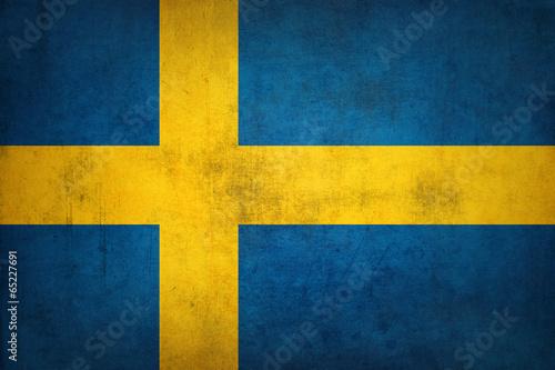 Fotografía  Grunge Sweden flag Vintage Swedish flag