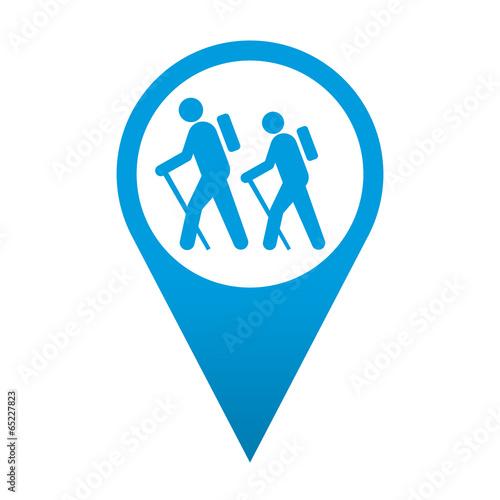Fotografía  Icono localizacion simbolo senderismo