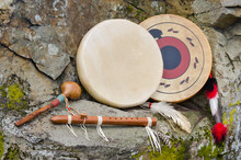 Native American Drums, Flute A...