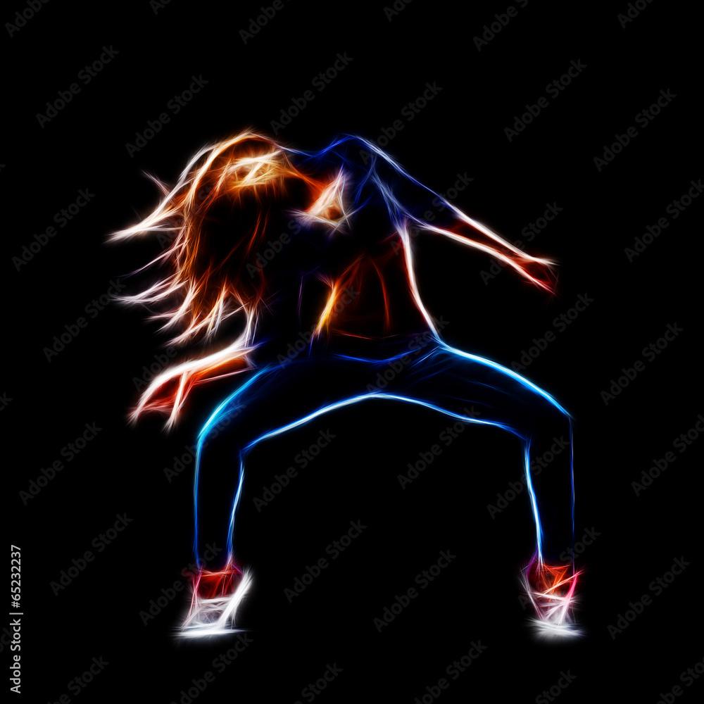 Valokuva  Female hip hop dancer
