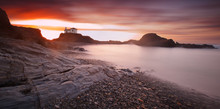 Panoramic Seascape Of Virxe Do...