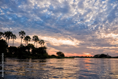 The Zambeze river at sunset, Zambia