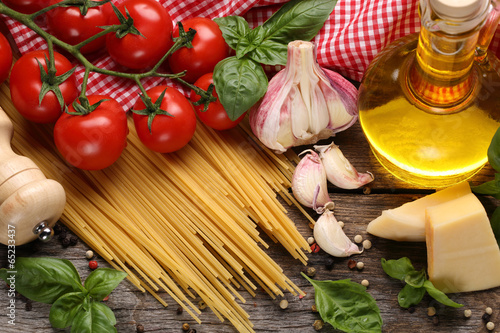 Stampa su Tela  Italian food ingredients