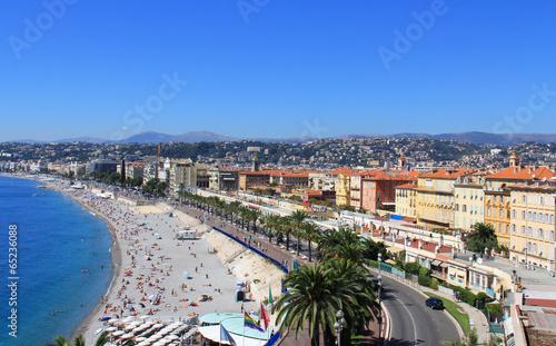 Spoed Foto op Canvas Nice Plage de Nice, promenade des anglais (France, côte d'Azur)