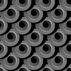 Tapeta Seamless pattern with circle spiral elements.