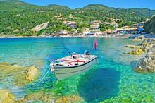 Greece - Lefkas - Agios Nikitas - Transparency - Boat