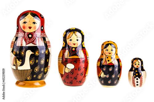 Photo Matryoshka dolls family
