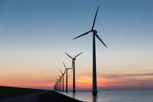 Dutch Row Offshore Wind Turbin...