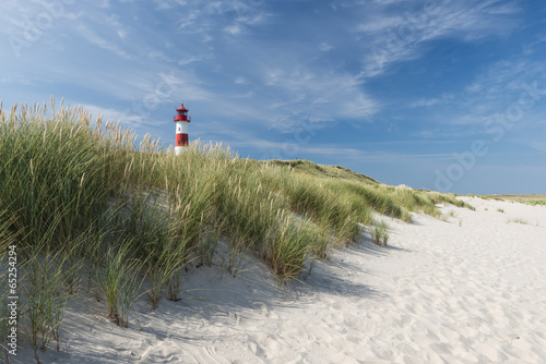 Lighthouse on dune horizontal