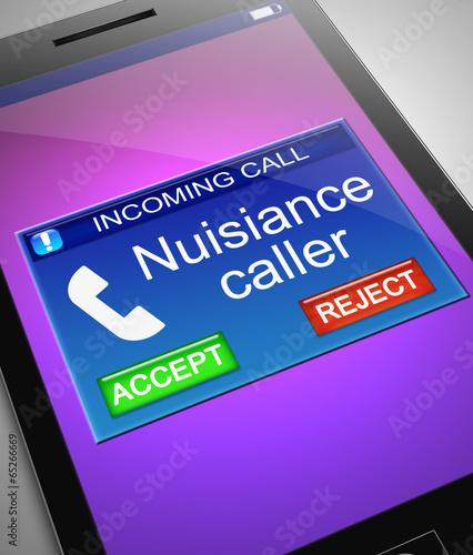 Vászonkép Nuisance caller concept.