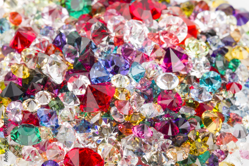 Collection of many different natural gemstones.