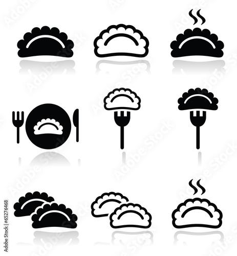 Photo Dumplings, food vector icons set