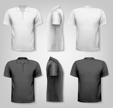 Polo Shirts With Sample Text S...