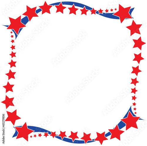 Fotografía  Stars and Stripes Border