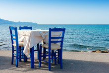 Sidewalk Cafe In Kissamos. Cre...