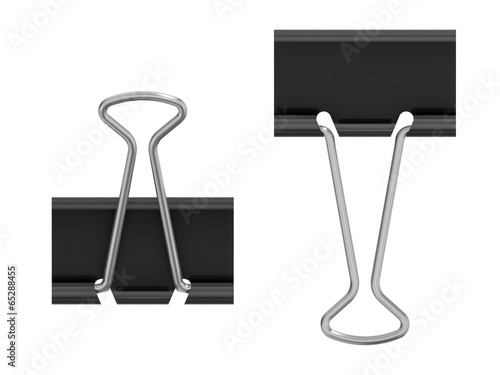 Photo  Office: paper clip isolated on white background