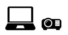 Vidéo Projecteur Et Un Ordinateur Portable