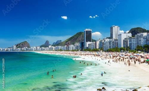 Rio de Janeiro view of Copacabana beach in Rio de Janeiro, Brazil