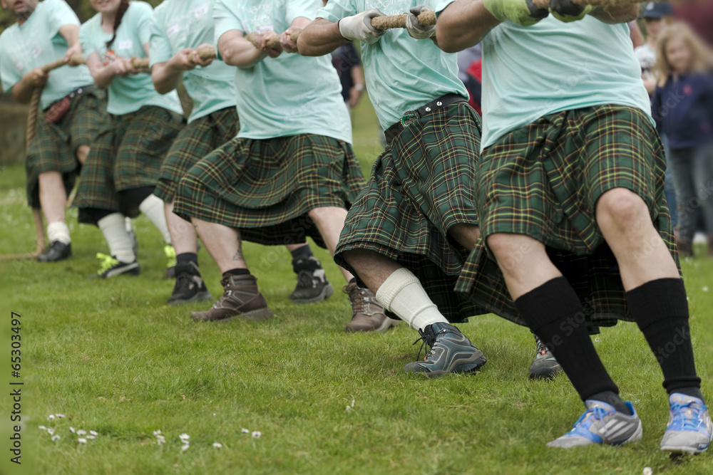 Fototapeta Tauziehen Highland Games