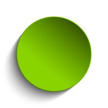 Green Circle Button On White Background