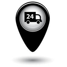 Векторный указатель с изображением машины