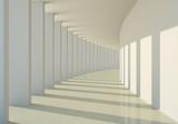Fototapeta Perspektywa 3d - 3D abstract corridor