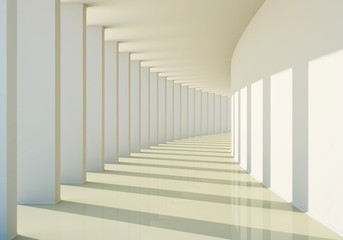 Fototapeta3D abstract corridor