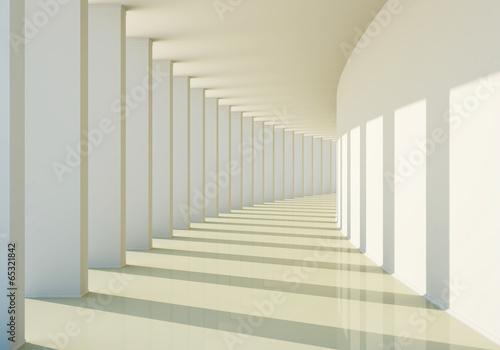 Naklejka na drzwi 3D abstract corridor